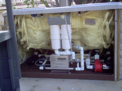 View of a spa pump system
